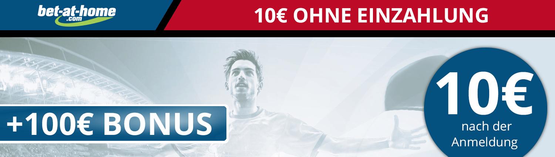 10€ Wettbonus ohne Einzahlung von bet-at-home