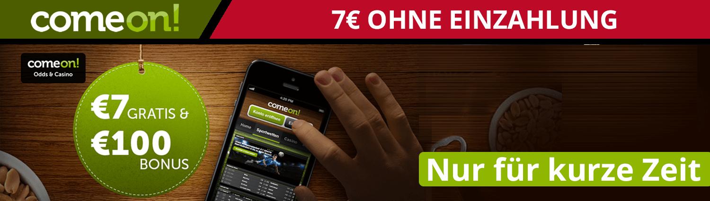 7€ Wettbonus ohne Einzahlung von Comeon