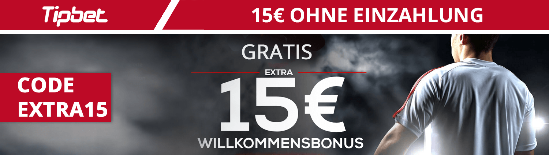 15€ Wettbonus ohne Einzahlung von Tipbet