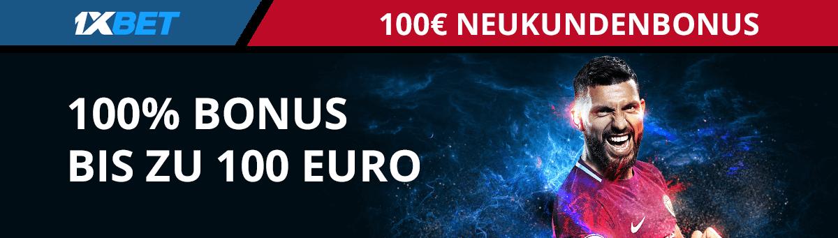 1xbet Neukundenbonus 100 Euro