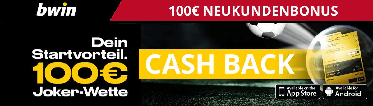 bwin Neukundenbonus 100 Euro Cash Back