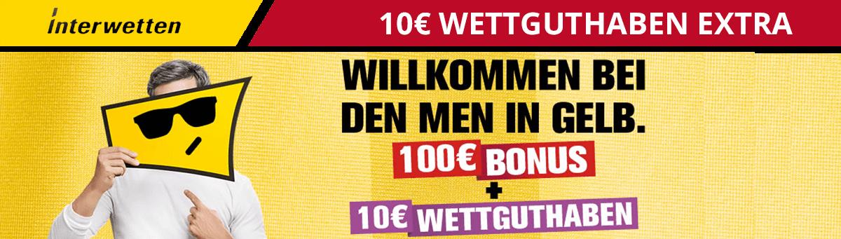 Interwetten 10 Euro extra Wettguthaben