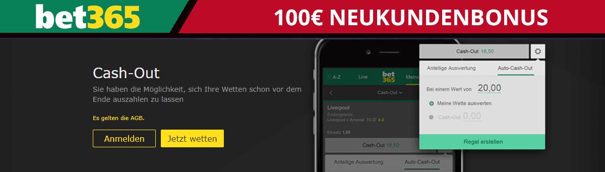bet365 100Euro Neukundenbonus