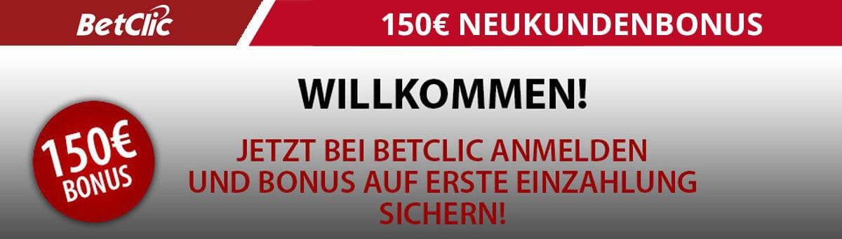 Betclic 150 Euro Neukundenbonus
