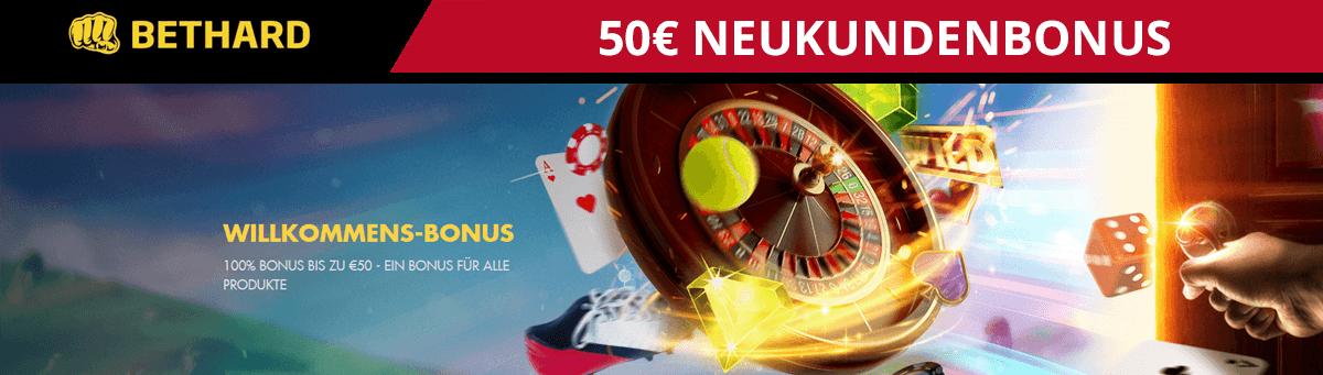 Bethard 50 Euro Neukundenbonus