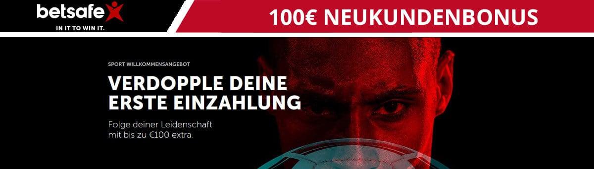 Betsafe 100 Euro Neukundenbonus
