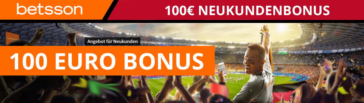betsson 100 Euro Neukundenbonus