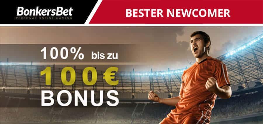 BonkersBet neuer Wettanbieter mit 100€ Wettbonus