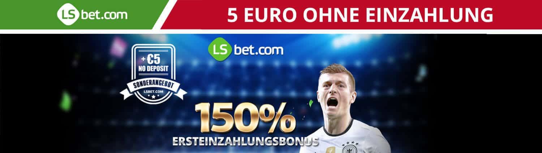 LSBet 150 Euro Neukundenbonus