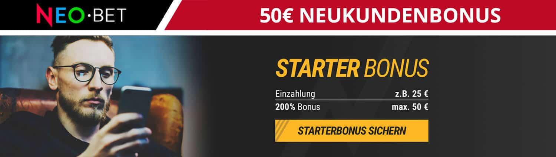 Neo Bet 50 Euro Neukundenbonus