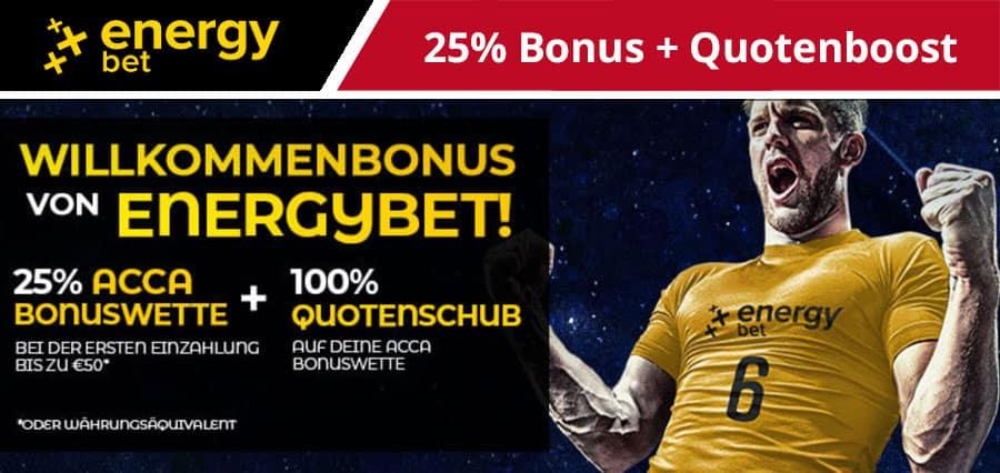 EnergyBet 50 Euro Wettbonus