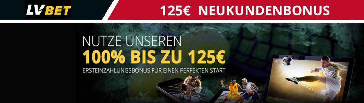 LVBet Neukundenbonus 125 Euro