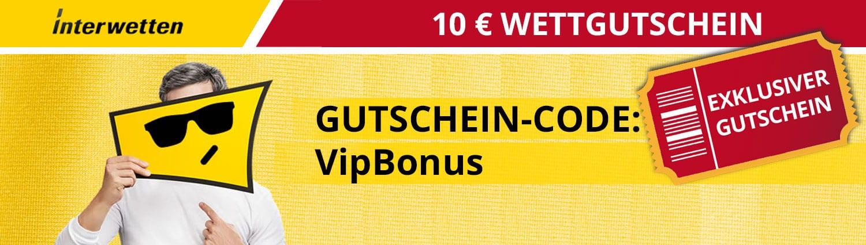 Interwetten 10 Euro Wettgutschein