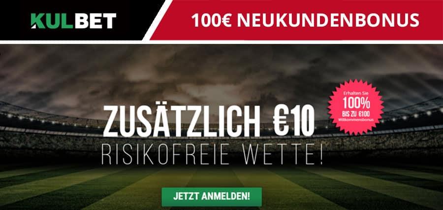 KultBet Neukundenbonus 100 Euro