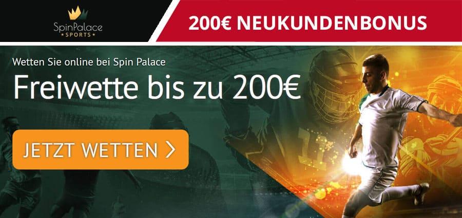 Spinpalace Neukundenbonus 200€
