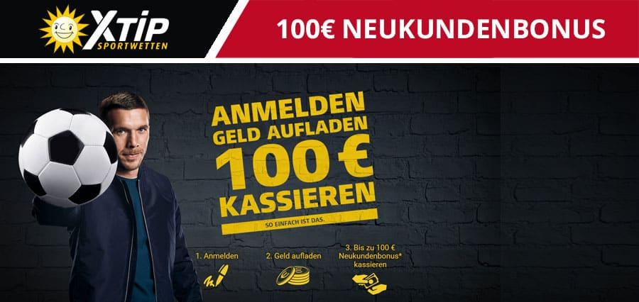 xtip-100 Euro neukundenbonus