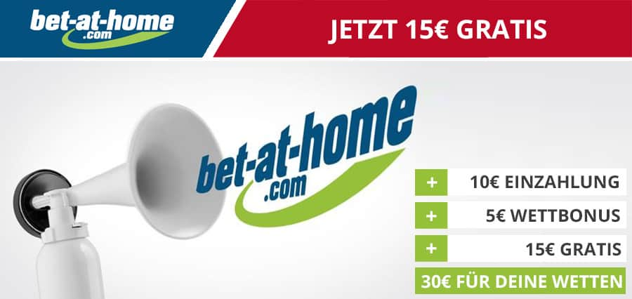 bet at home 15€ gratis Bonus
