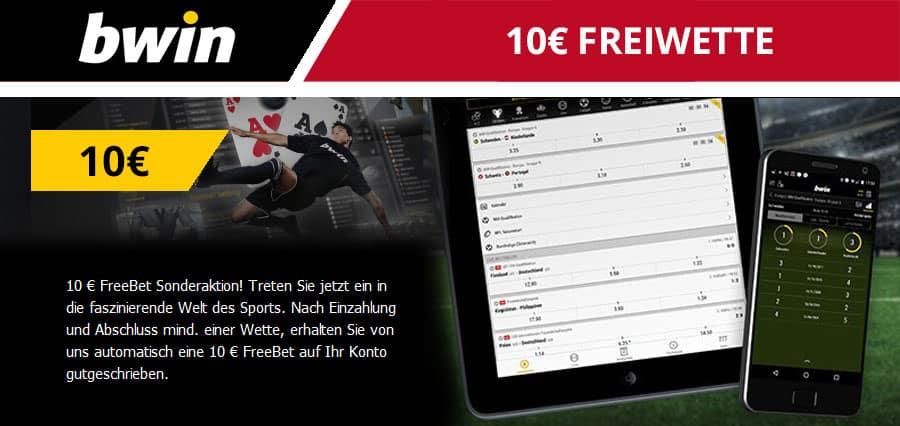 Bwin 10 Euro Freiwette