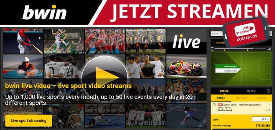 bwin kostenloser Live Stream