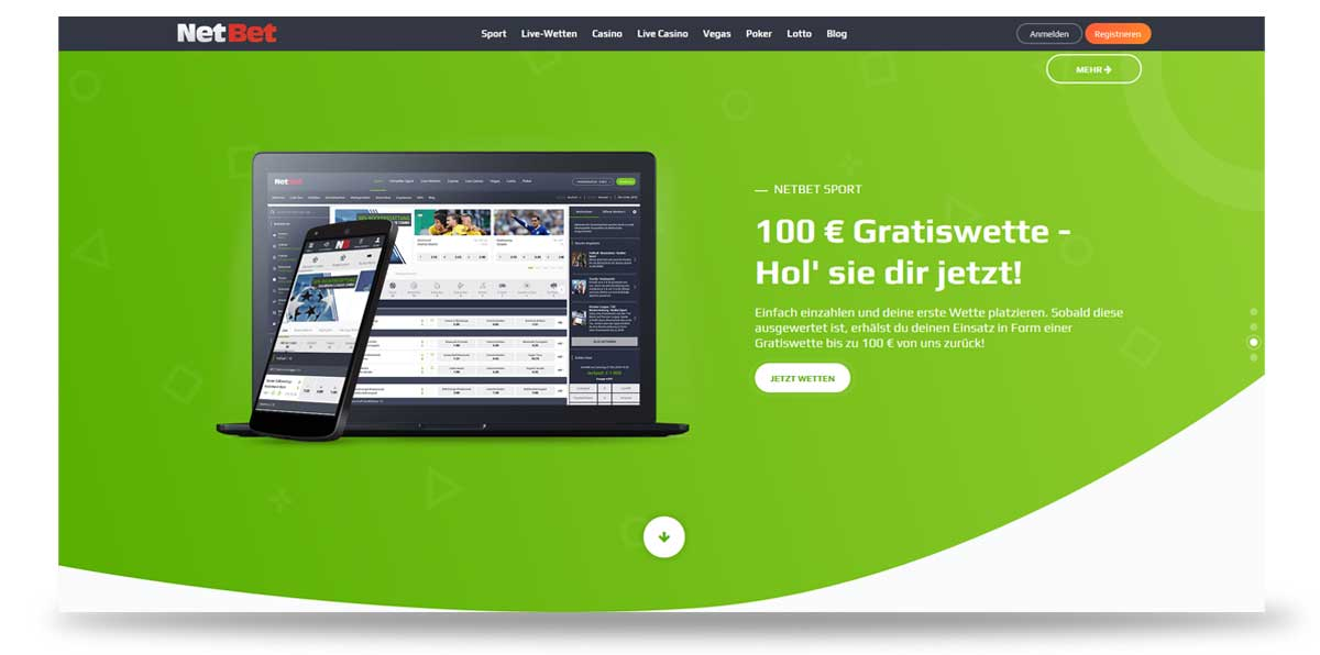 Startseite von NetBet