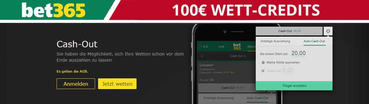 100€ Wett Credits bei bet365