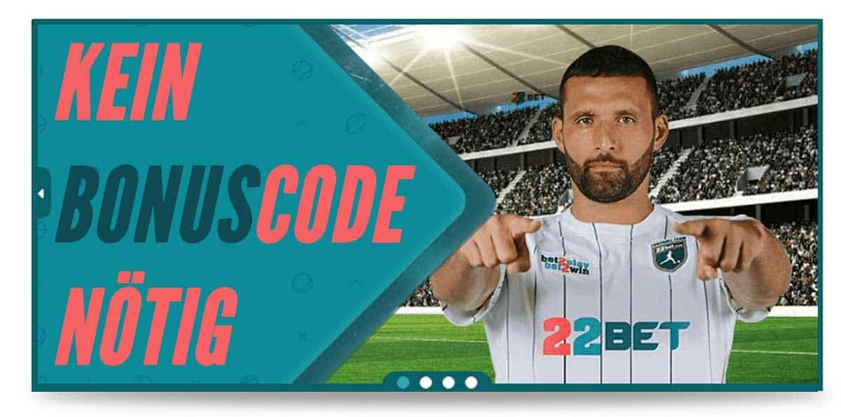Darstellung des 22bet Bonus Code