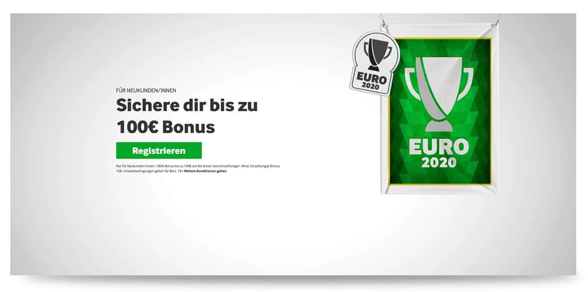 Aktueller 100€ Wettbonus bei betway