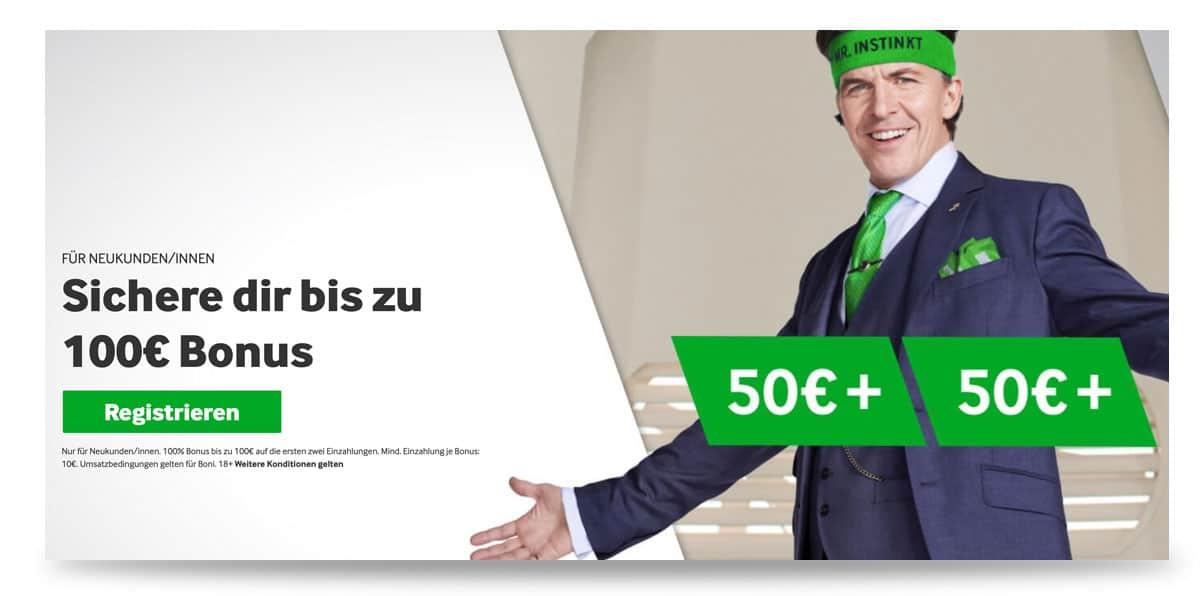 100 Euro Betway Bonus Angebot für Neukunden