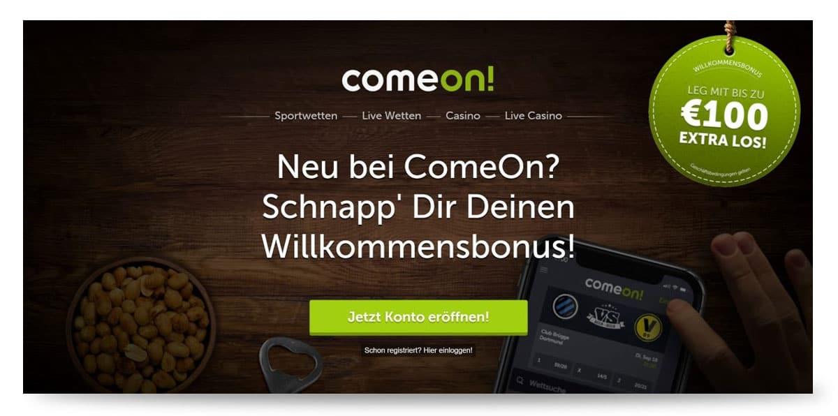 Aktueller Wettbonus Comeon