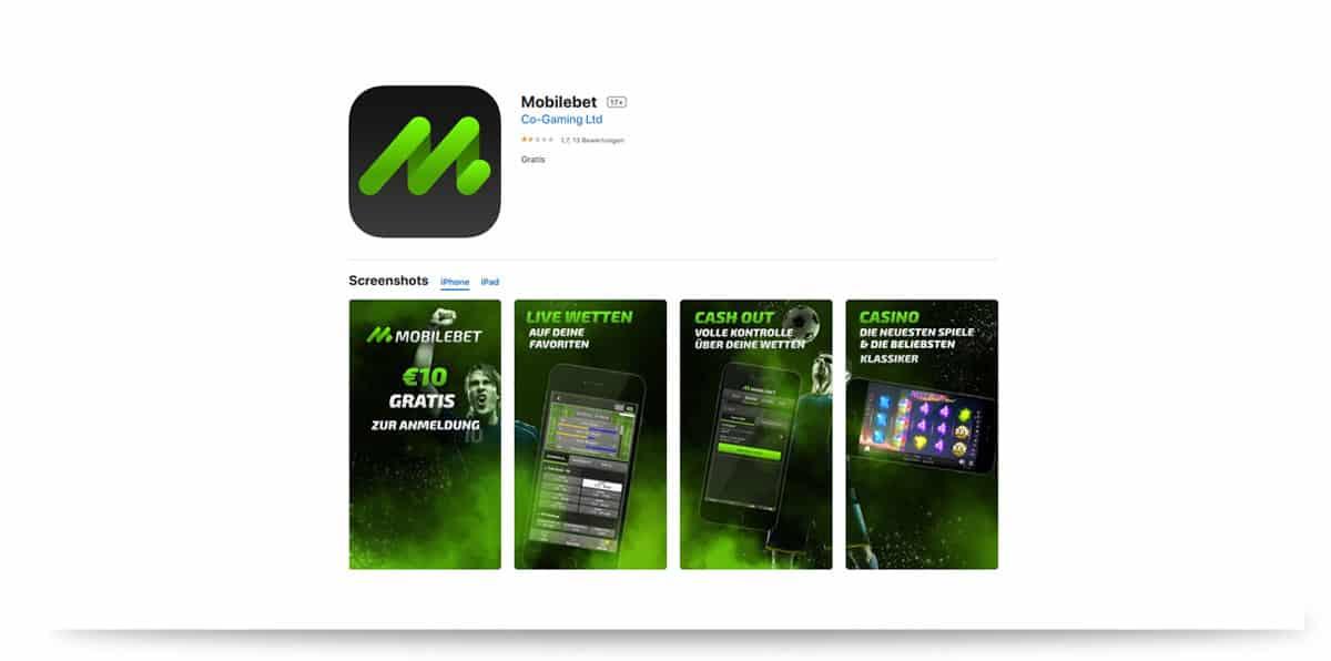 Mobile App im App Store von Apple