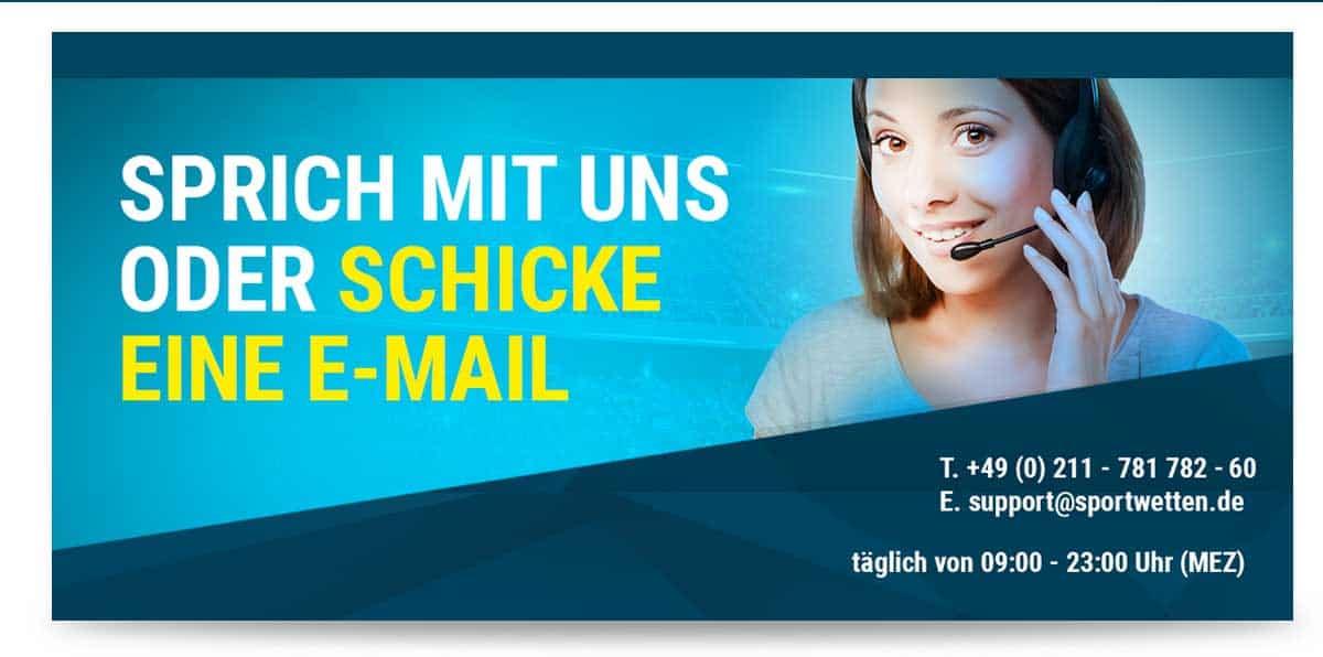 Kontaktmöglichkeiten bei sportwetten.de