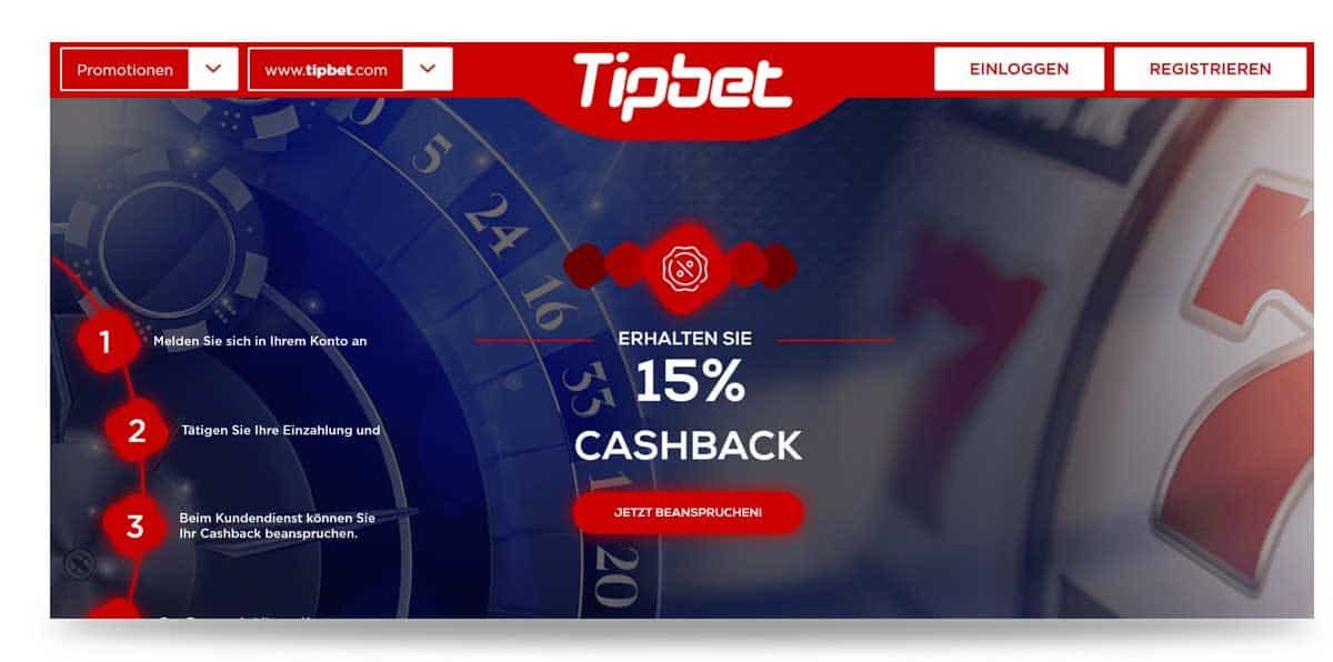 Tipbet Cachbakc Bonus