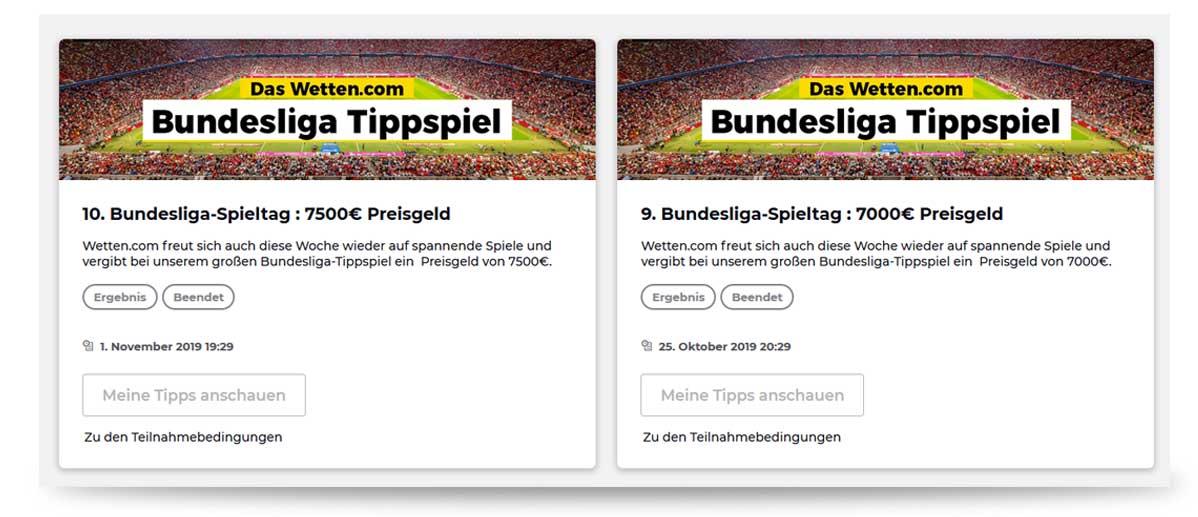 Budesliga Tippspiel von wetten.com