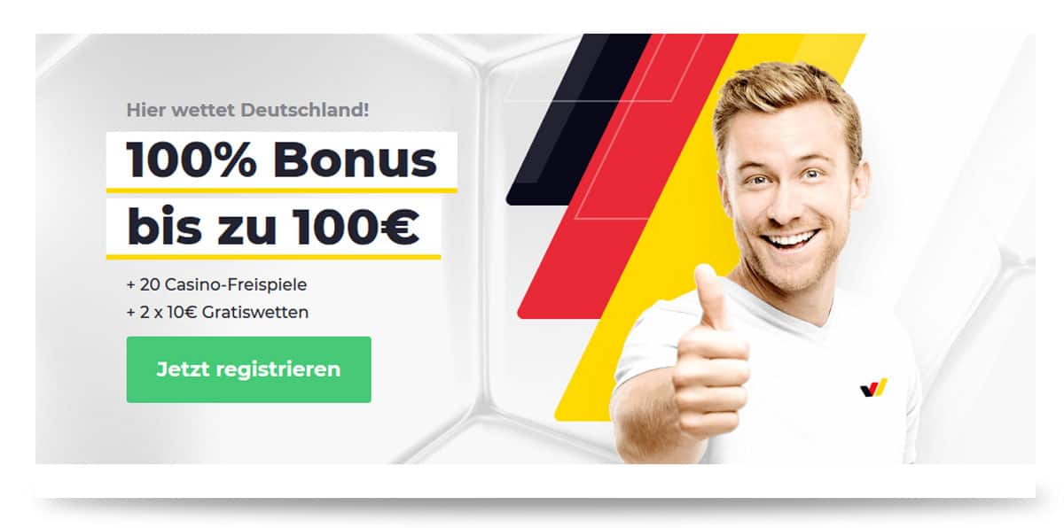 Wetten.com Wettbonus von bis zu 100 Euro