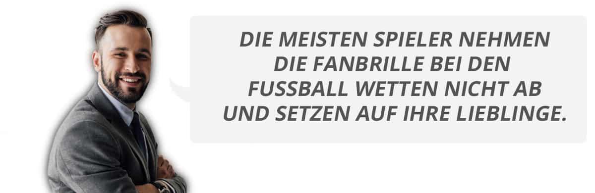 Fanbrille bei Fussball Wetten
