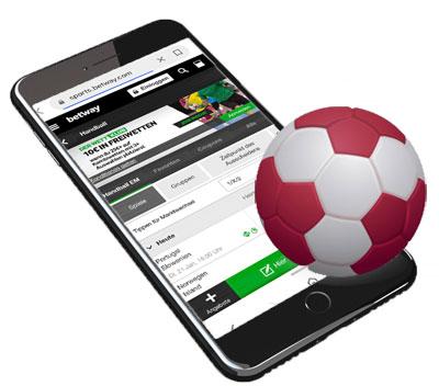 Handball Wetten über App