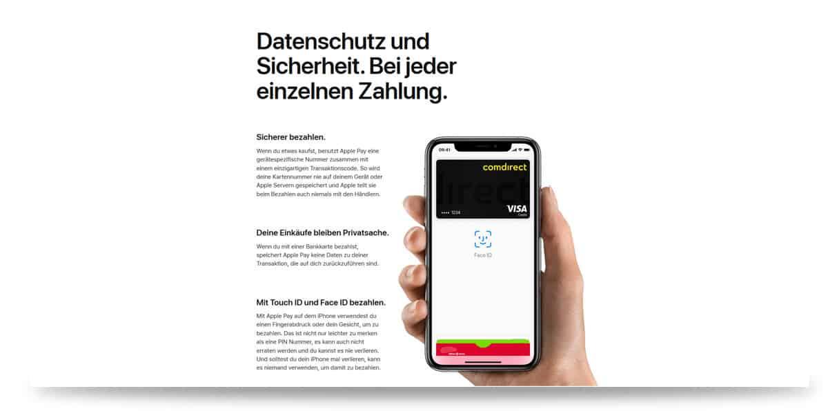 Sicherheit und Datenschutz bei Apple Pay