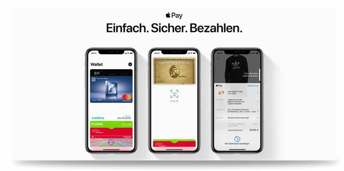 Startseite von Apple Pay