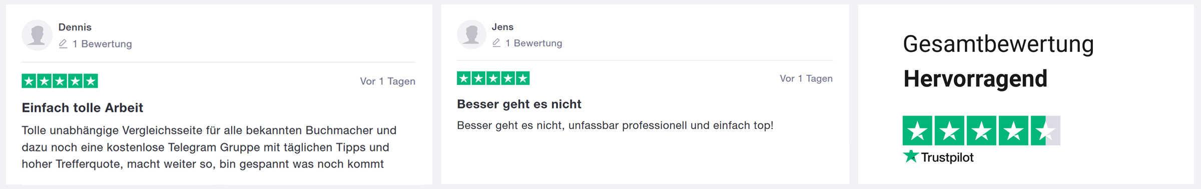 Trustpilotbewertungen für wettbonus360.com