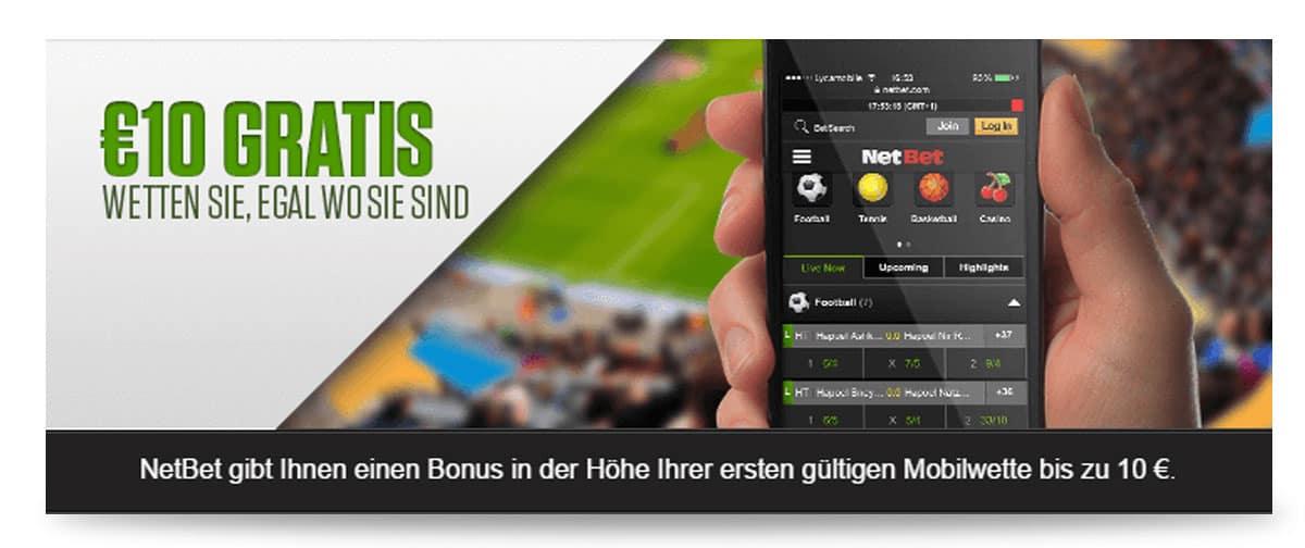 App Bonus für Handynutzer bei NetBet