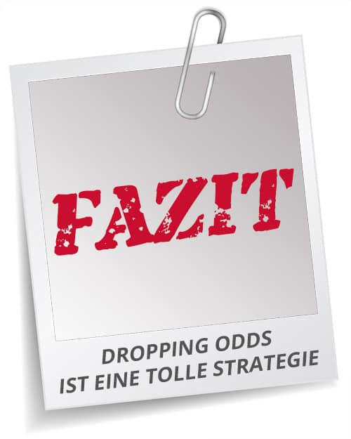 Fazit Dropping Odds
