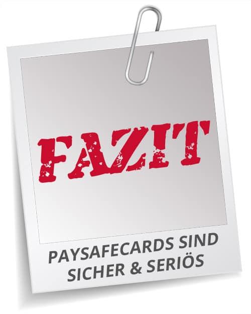 Fazit Sportwetten Paysafecards