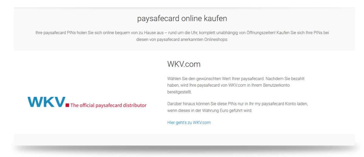 Paysafecards online kaufen
