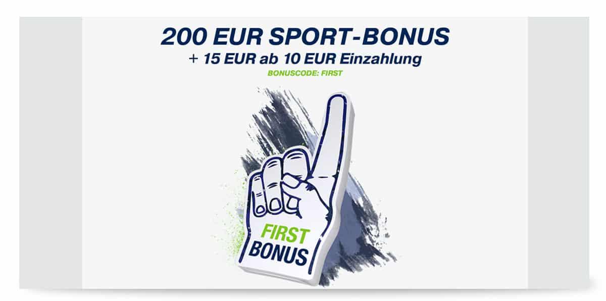 15 Euro Gutschein von bet at home