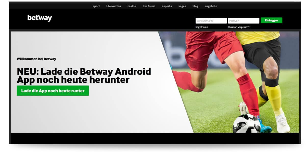 Betway App Werbebanner