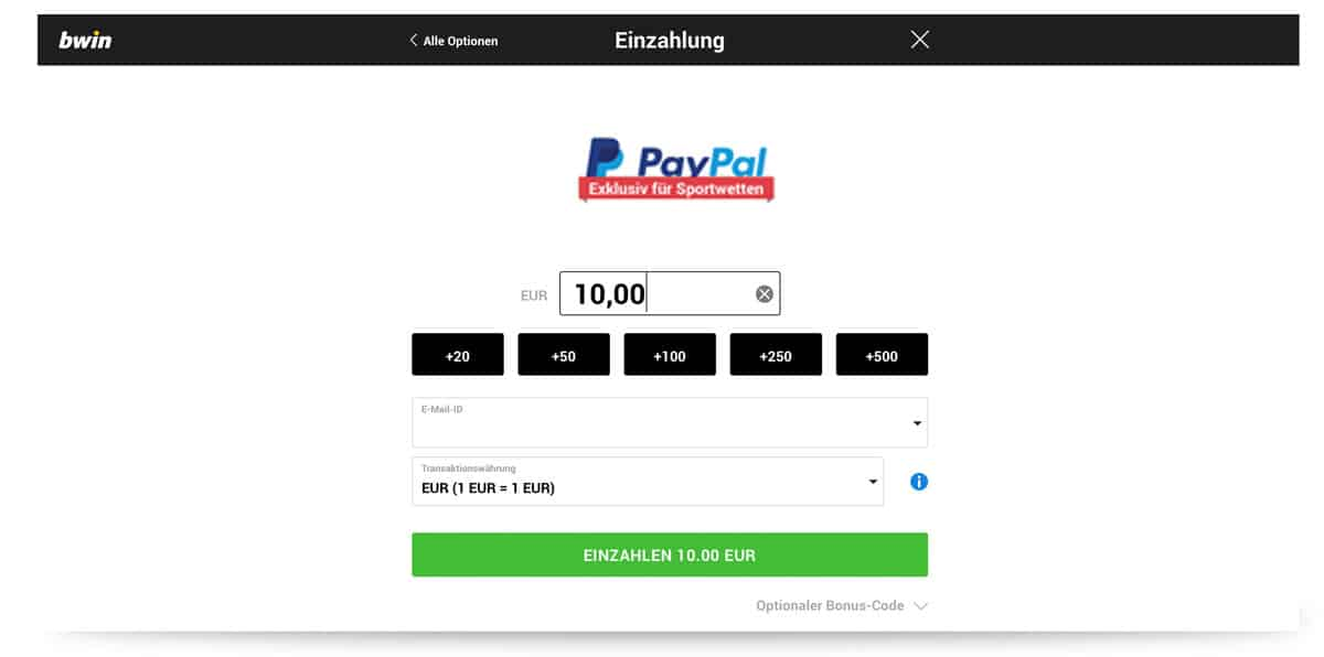 Bwin Auszahlung Paypal