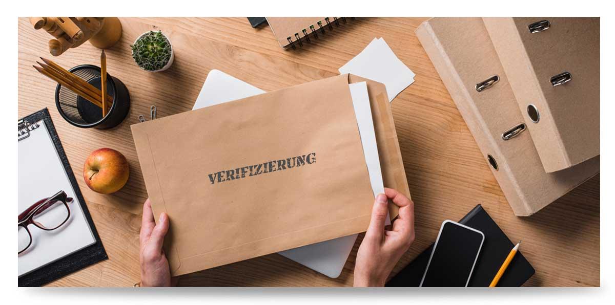 Wettanbieter Verifizierung über die Post per Brief