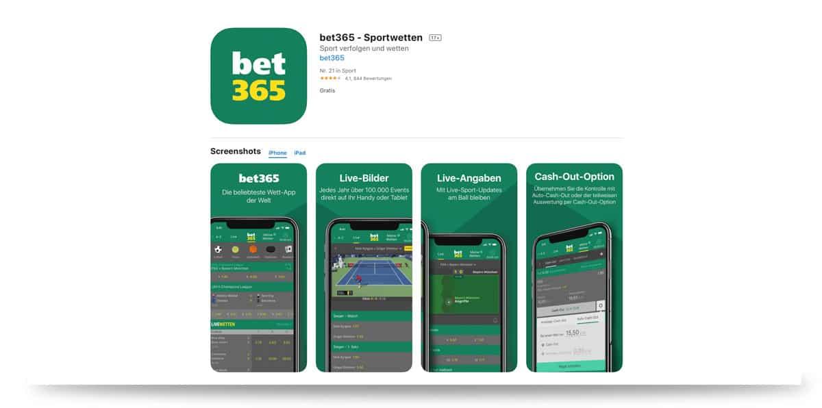 bet365 App für iOS im App Store
