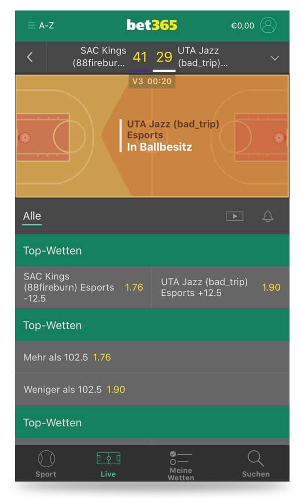 bet365 Live Center iOS App