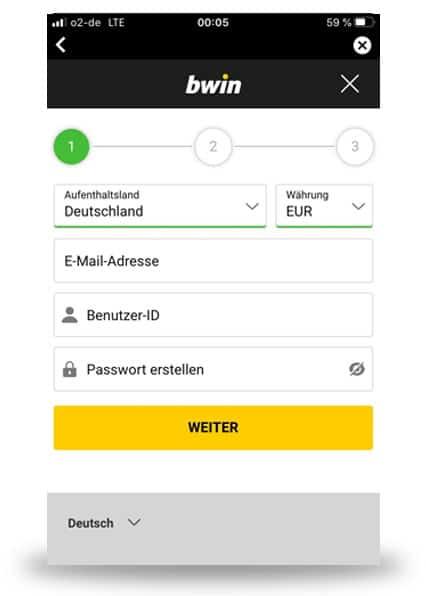 Bwin App Anmeldung